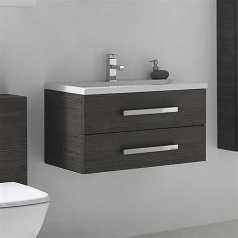 frontline aquatrend avola grey mm vanity unit basin