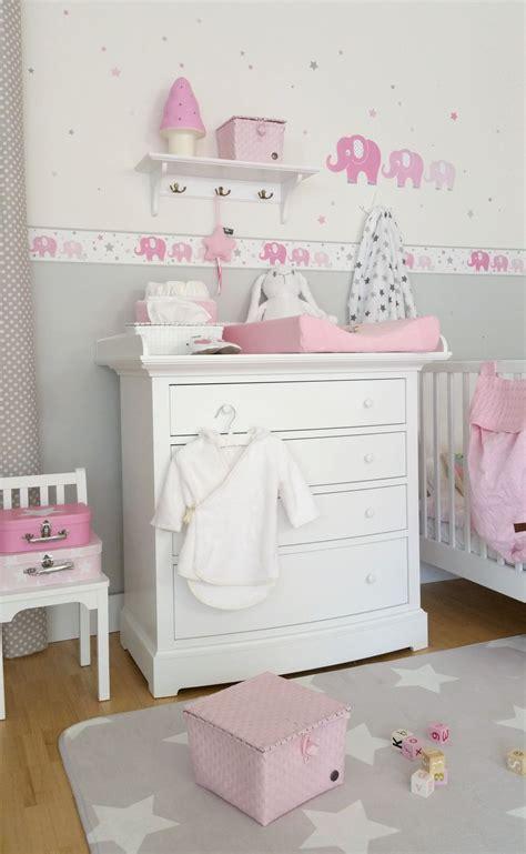 Kinderzimmer Uhr Mädchen by Kinderzimmer Bord 252 Re Elefanten Rosa Grau Selbstklebend