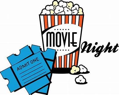 Night Movie Clipart Popcorn Powerpoint Advertisement