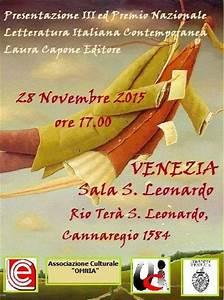 Premio Nazionale Letteratura Italiana Contemporanea 2015