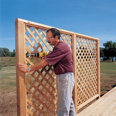 Outdoor Lattice Privacy Screen  Woodworking Projects & Plans