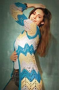 Crochet Diagram  Long Cardigan And Patterns On Pinterest