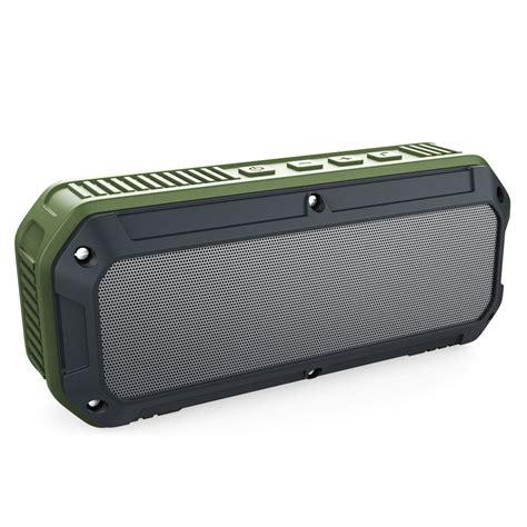 aukey outdoor waterproof stereo bluetooth speaker dual 3w