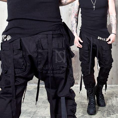 Bottoms - u2605SOLD-OUTu2605 Wrinkled cargo pockets webbing black pants - 153 for only 88.00