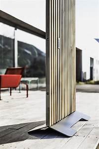 Paravent D Extérieur : paravent ext rieur de terrasse mario 99x155 cm en bois massif d acacia et acier de couleur ~ Teatrodelosmanantiales.com Idées de Décoration