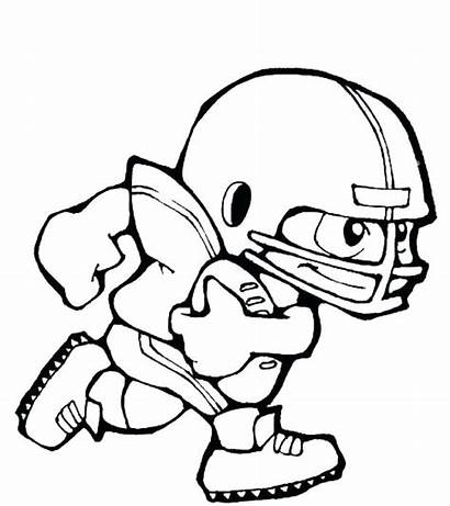 Coloring Football Pages Nfl Player Players Deadly