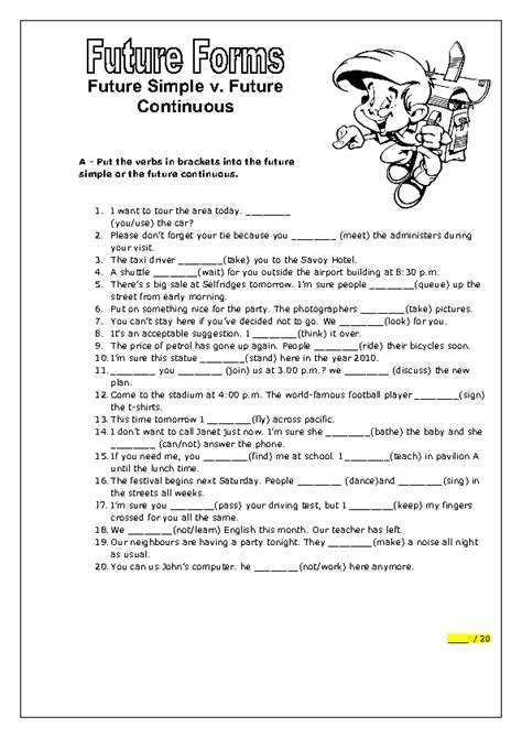 39 free future continuous worksheets