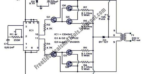 schematic diagram  watt inverter circuit