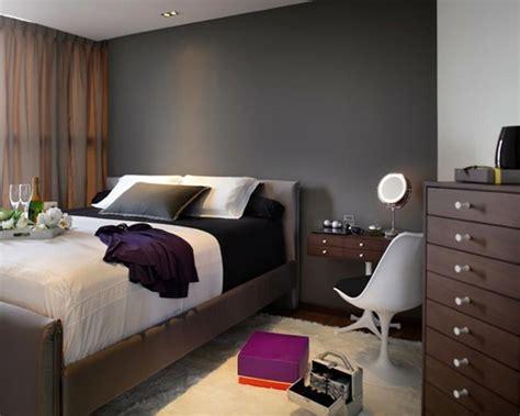 chambre mur gris murs et ameublement chambre tout en gris tendance