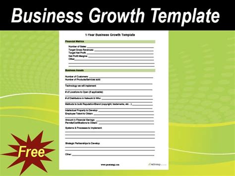 business growth template meylah