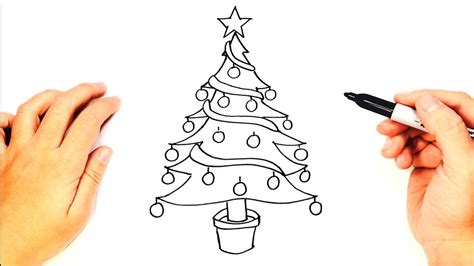 how to draw christmas tree how to draw a tree tree easy draw tutorial