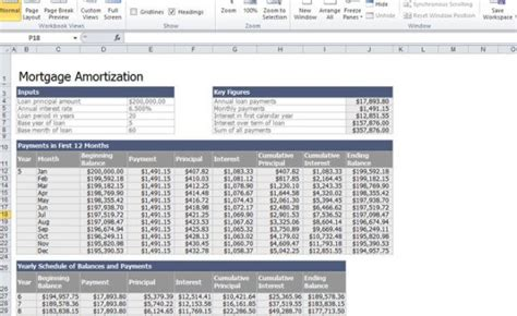 home mortgage calculator template  excel
