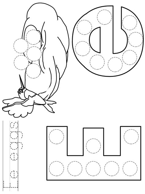 letter    dot art coloring page preschool letter