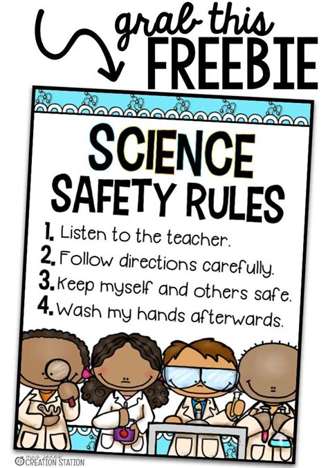 Science Safety Rules Elementary Worksheets  Lab Safety Lesson With Rules Expectations By