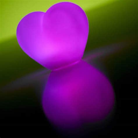 coeur lumineux led pile multicouleurs deco lumineuse