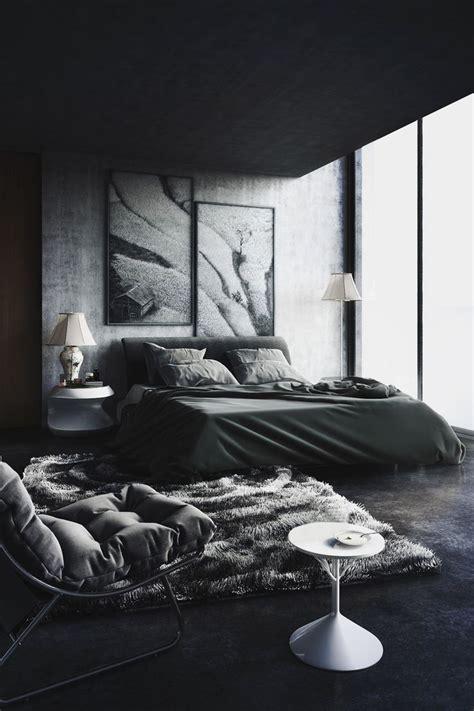 black decorating  dark color schemes