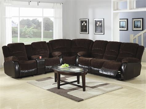 sofa bed sectional with recliner sectional sofa recliner smalltowndjs com