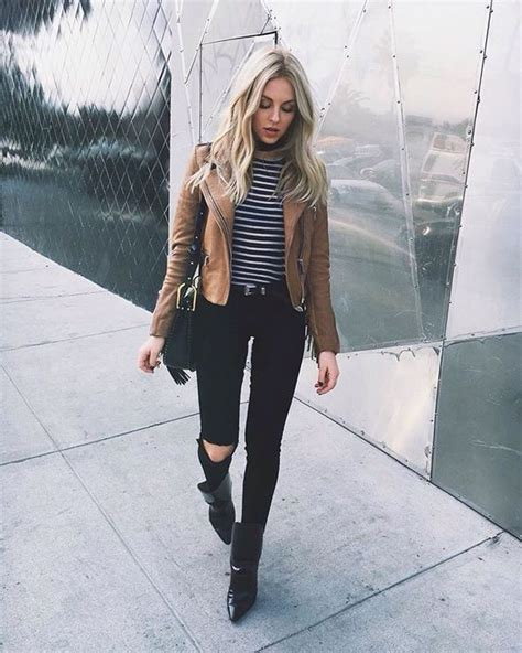 Cool Leather Jacket Outfit Ideas for Women - Outfit Ideas HQ