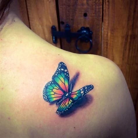 ideas  colorful butterfly tattoo