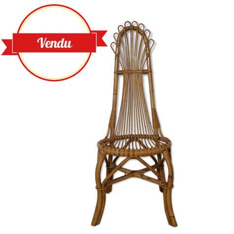 chaise de volupté chaise vintage en rotin boheme majdeltier boutique en