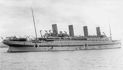 Titanic Sister Boat Name by Hospital Ship Britannic Ships Hit By U Boats German