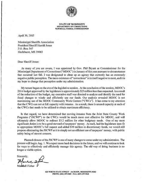 commissioner letter  president  ms sheriffs