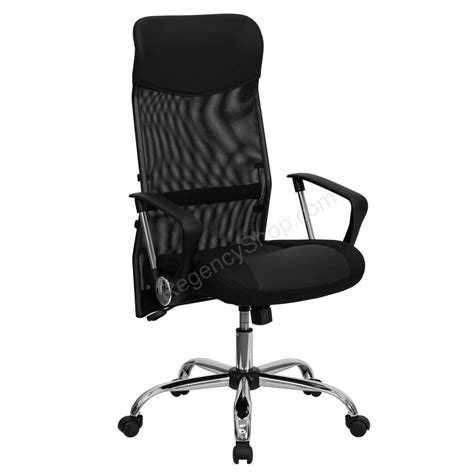 high back black split leather chair high quality office