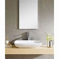 fine small bathroom fixtures Fine Fixtures White Vitreous China Rectangle Vessel Sink ...