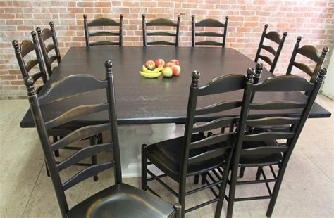 square tables built  reclaimed wood ecustomfinishes