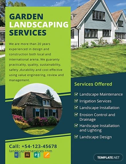 Free Template For by Free Landscaping Flyer Template 1578 Flyers In