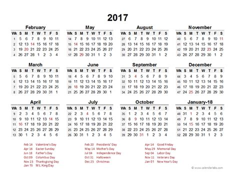 accounting period calendar     printable