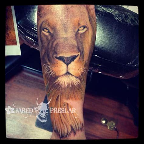 realistic lion tattoo tattoos  jared preslar lion