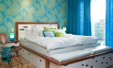 chambre adulte petit espace lit avec rangement petit espace accueil design et mobilier