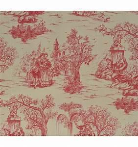 Toile De Jouy : toile de jouy fabric aimee red textiles fran ais ~ Teatrodelosmanantiales.com Idées de Décoration