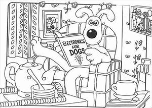 gromit reads about electronics coloring page free With electronics