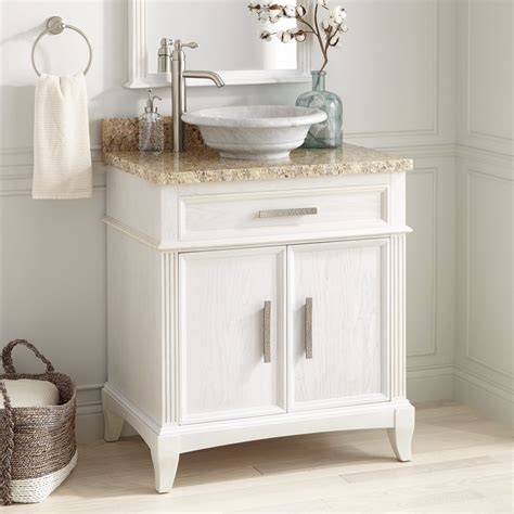livia vessel sink vanity white bathroom