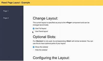 React Layout Example Npm