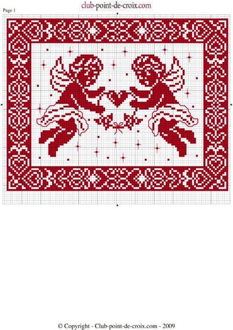 point de croix xmas 1000 images about point de croix anges on natal and filet crochet