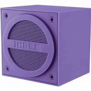 iHome Bluetooth Rechargeable Mini Speaker Cube Purple