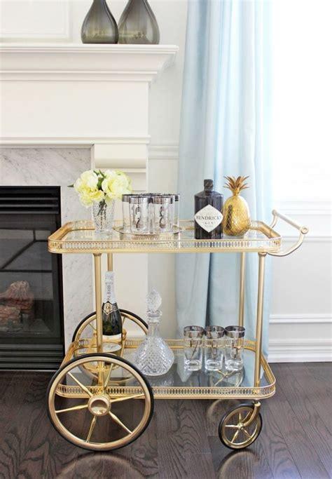 minibar rollwagen  goldener optik home inspo