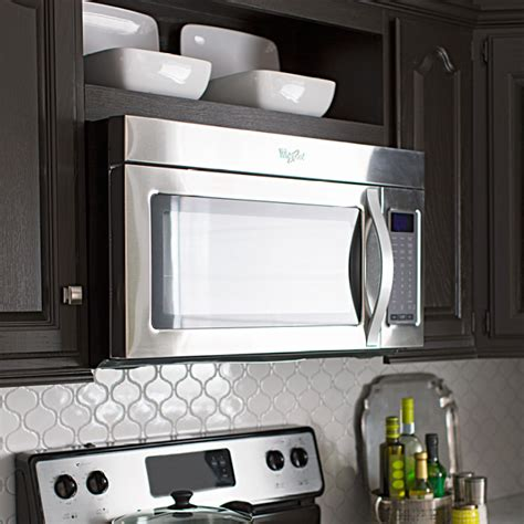 over the range microwave cabinet stylish kitchen updates