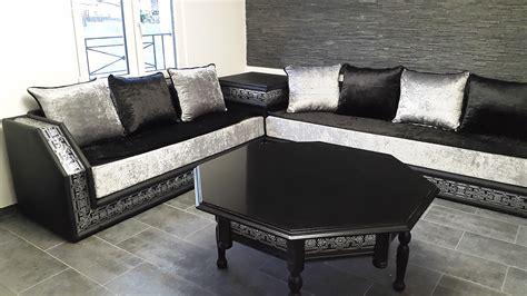 salon canape noir salon marocain noir et gris atlub com
