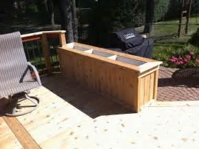 deck planter boxes cedar planter box built from tongue