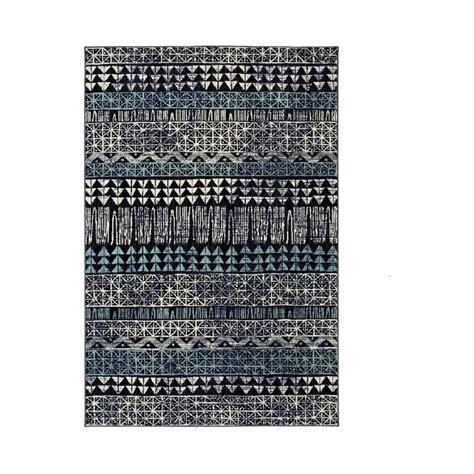 tribal blue black area rug