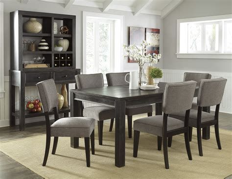 vintage wingback gavelston urbanology black gray wood 7pc dining room set