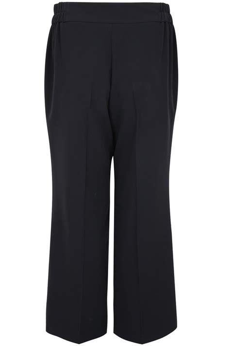 Pantalon Large Noir, taille 44 à 60