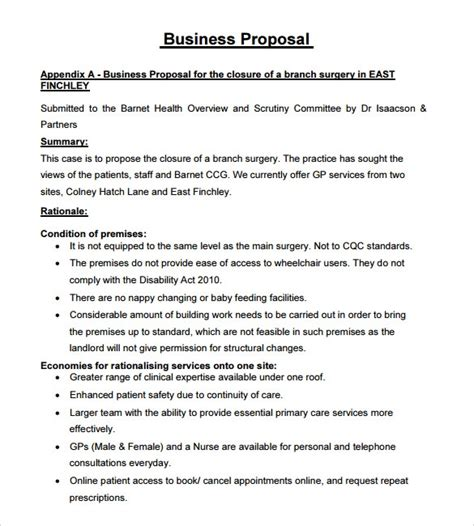 sample business proposal  documents   word
