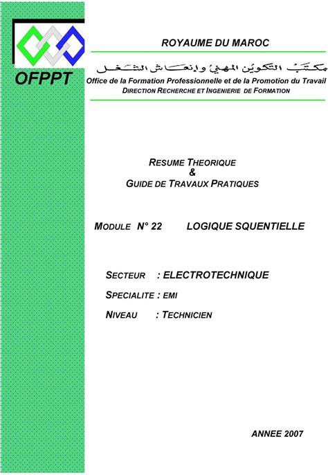 ofppt royaume du maroc resume theorique guide de travaux