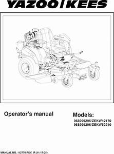 Yazoo Ignition Switch Wiring Diagram