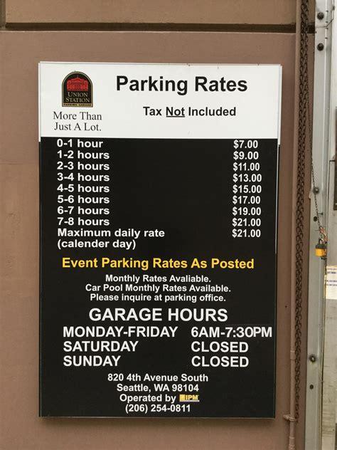 Union Station Parking Garage  Parking In Seattle Parkme